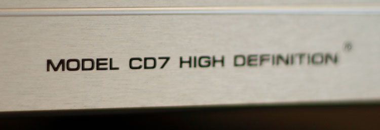 Audio Research, model CD7 high definition