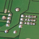Detail of load resistors on TDA1545